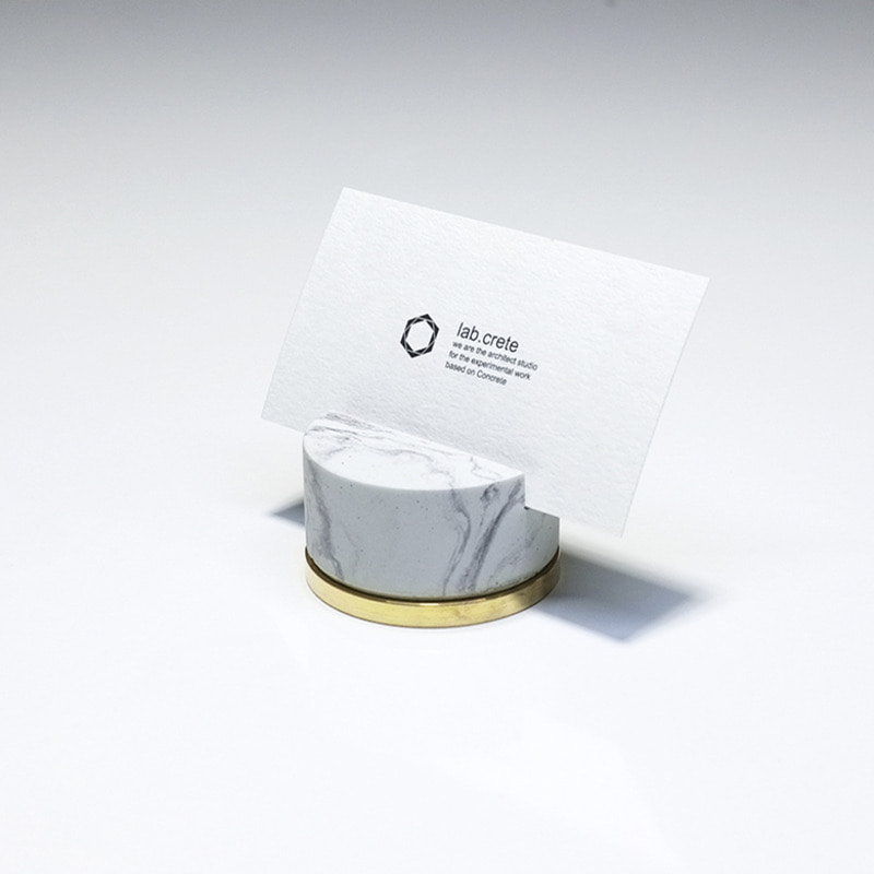 Monster pill (namecard holder) _ Circle type / White marble