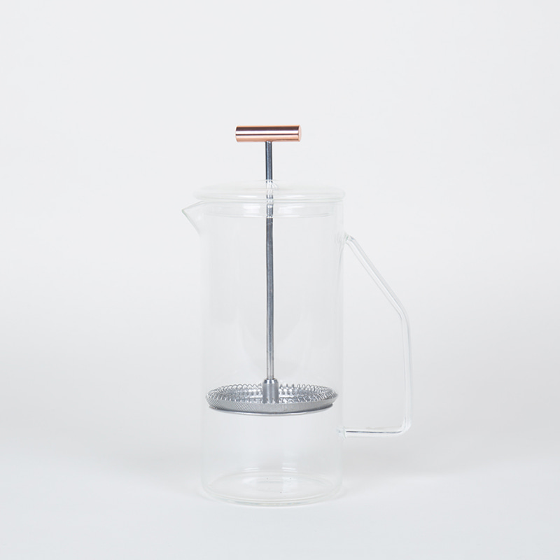 850 mL Glass French Press - Clear