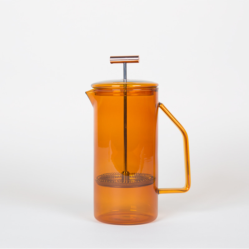 850 mL Glass French Press - Amber