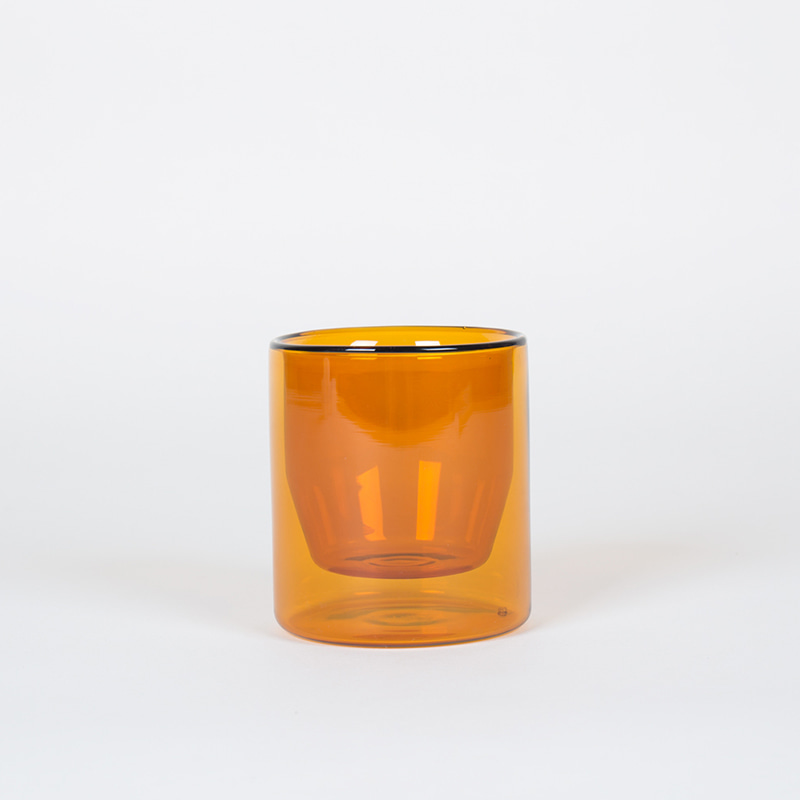 Double-Wall 6OZ Glasses-Set of 2 - Amber