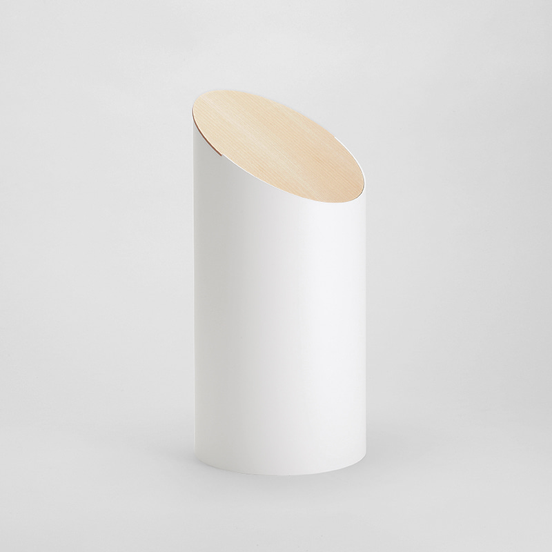 SWING BIN (white / hardmaple)