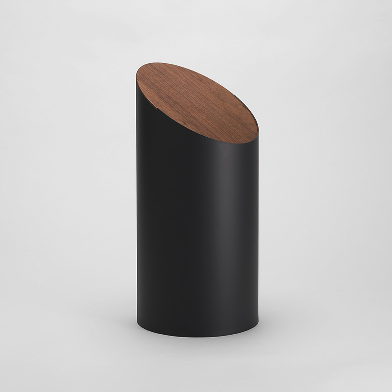 SWING BIN (black / walnut)