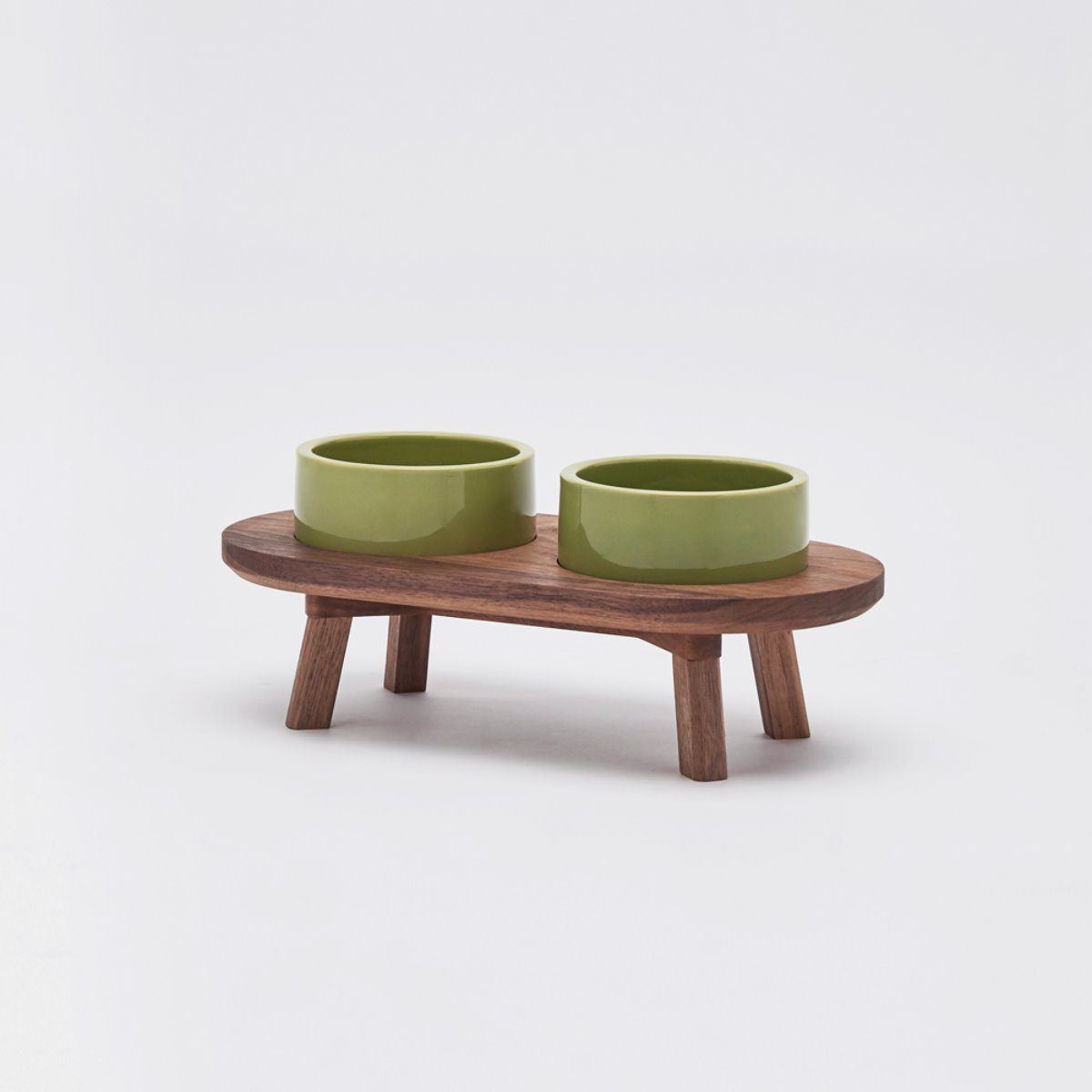 DINING SET WOOD WALNUT