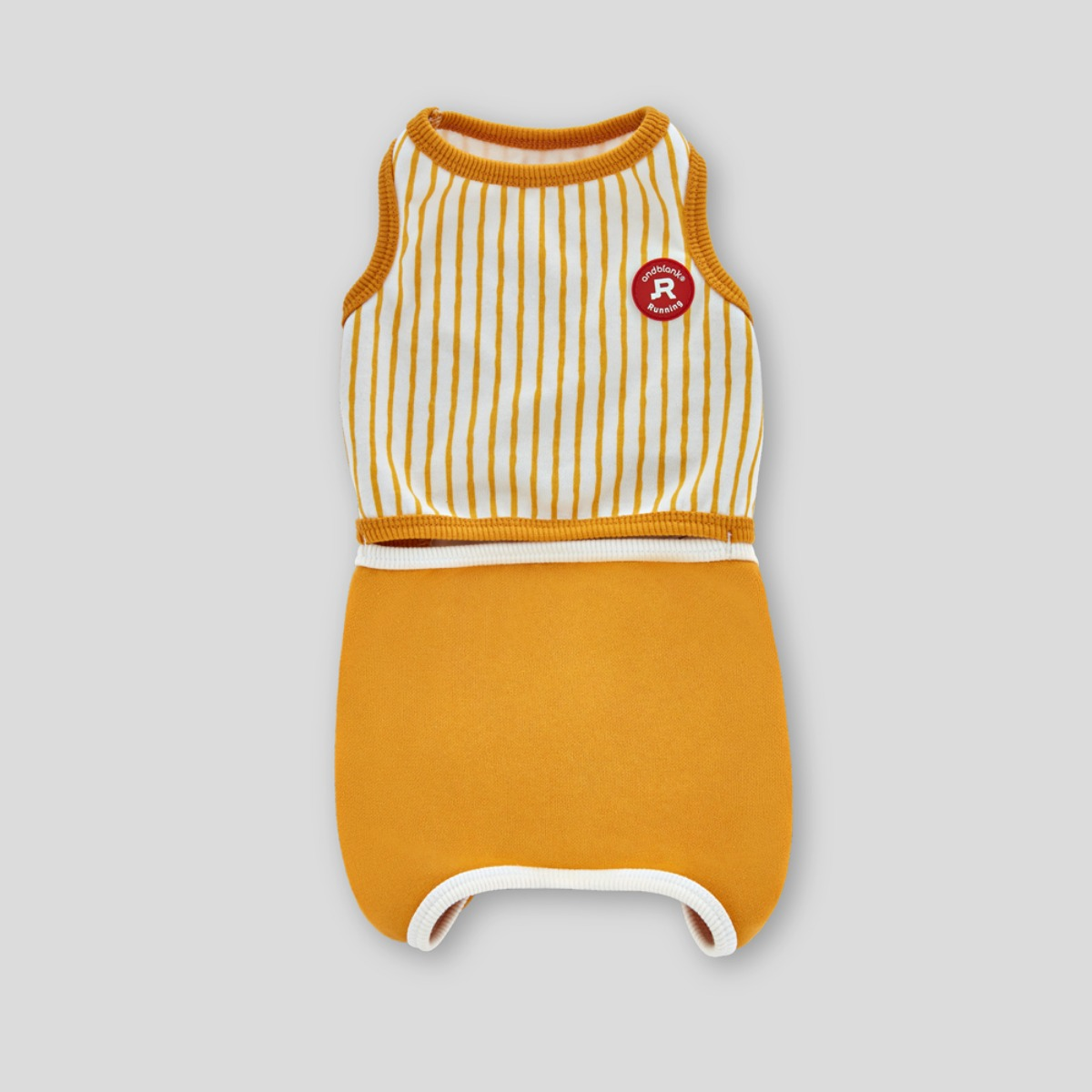 [andblank] STRIPES, ROMPER : YELLOW