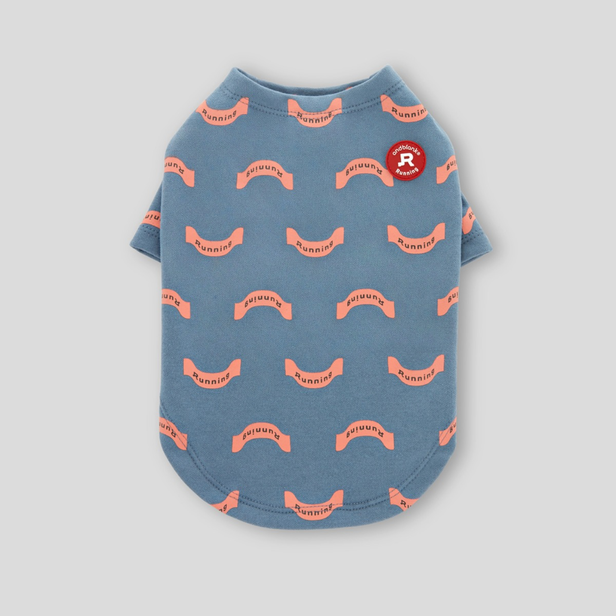 [andblank] RIBBON, SHORT SLEEVE : SKY-BLUE