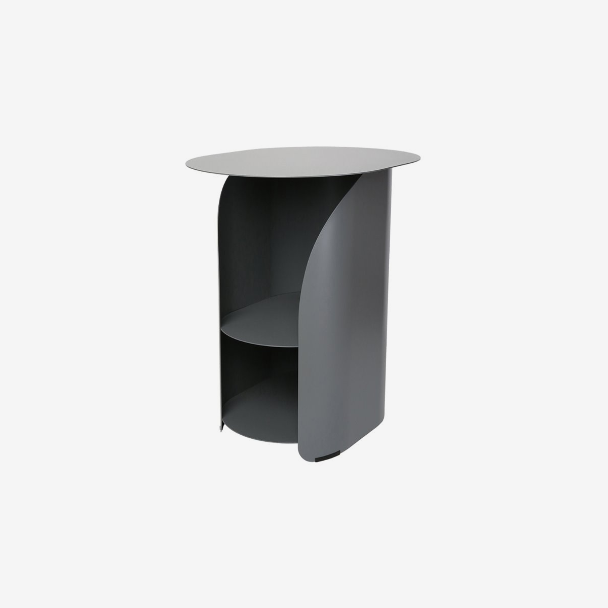 Curve Side Table_gray
