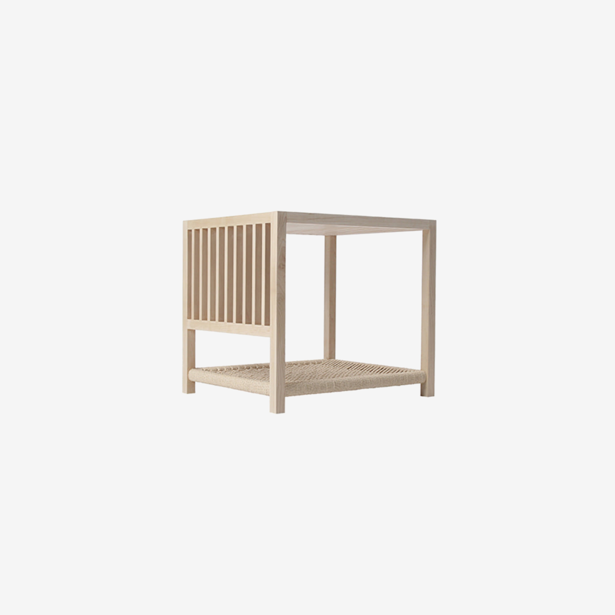 W102-Side Table With Pet Bed