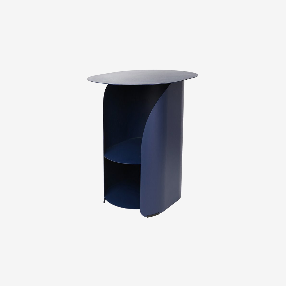 Curve Side Table_Deep Blue