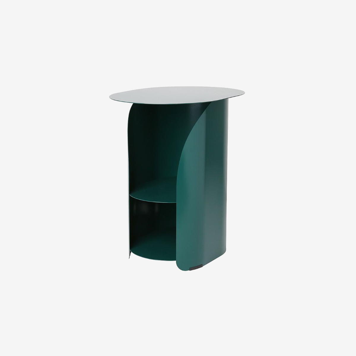 Curve Side Table_Evergreen