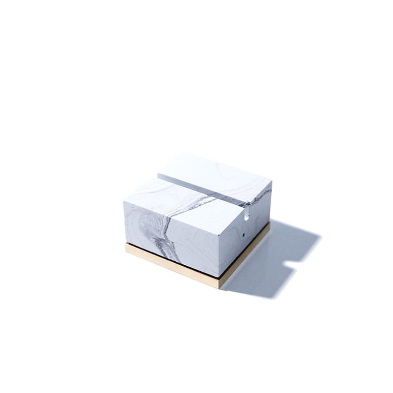 Monster pill (namecard holder) _ Square type / White marble