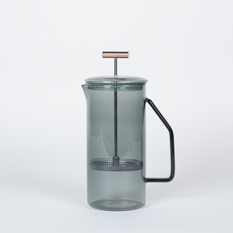 850 mL Glass French Press -  Grey