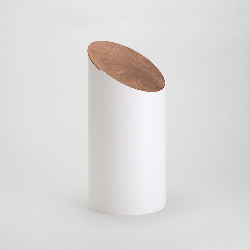 SWING BIN (white / walnut)