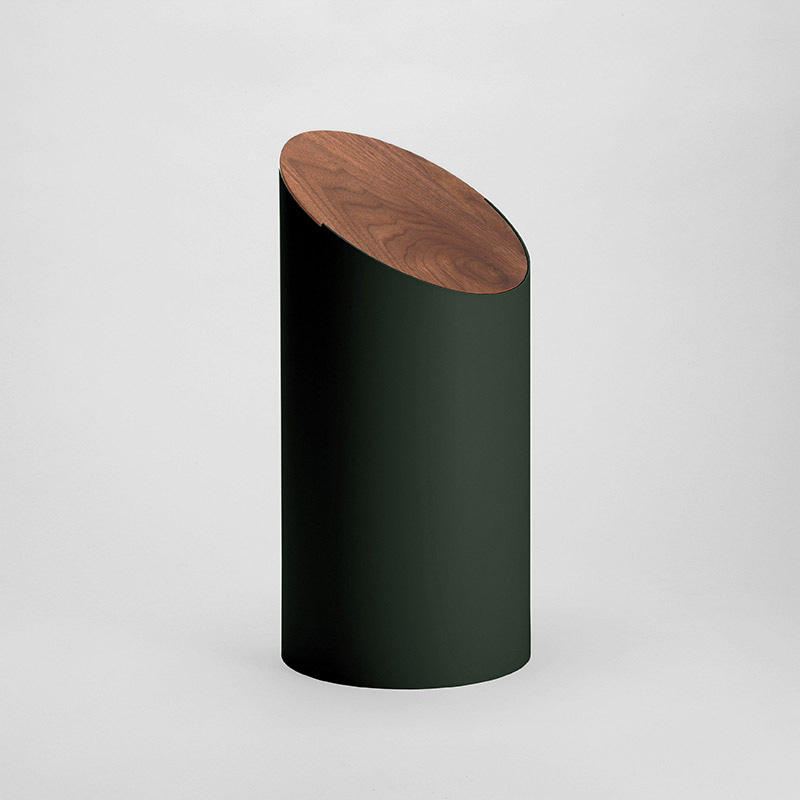 SWING BIN (green / walnut)