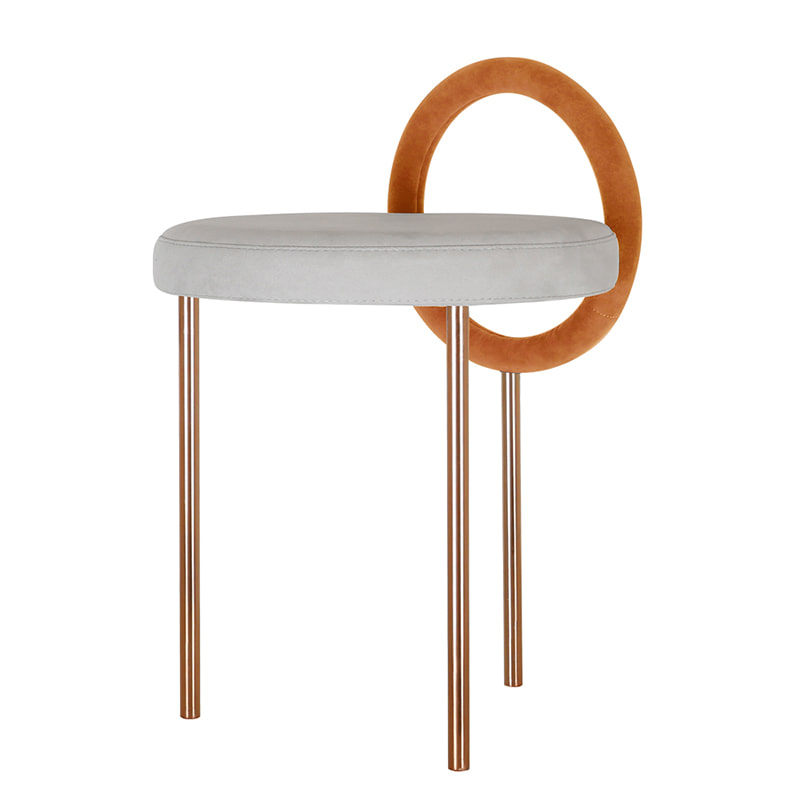 Hoop Stool _orange