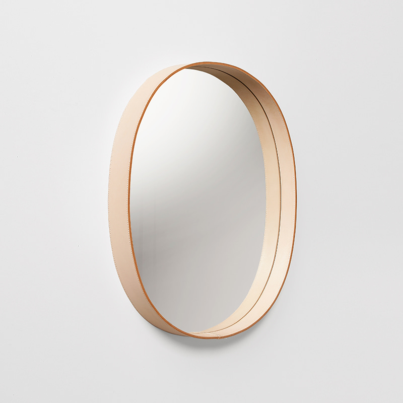 OVAL MIRROR (natural)