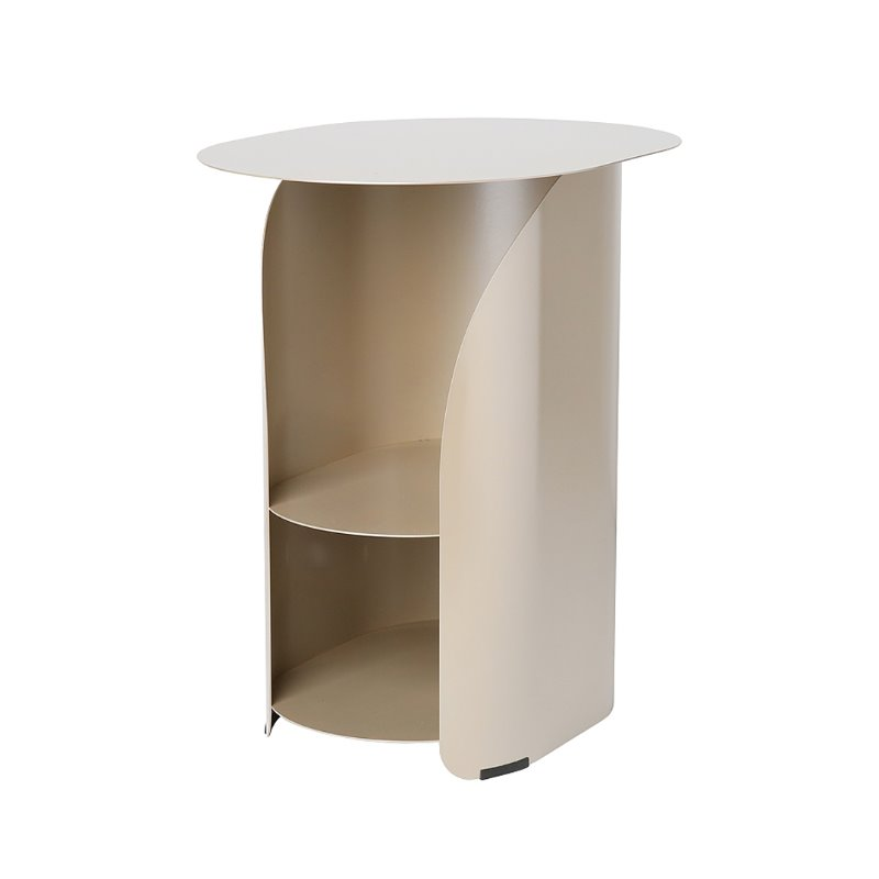 커브사이드테이블 curve side table_champagne gold