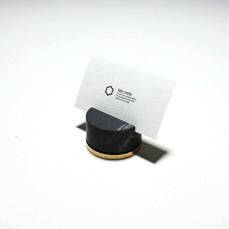 Monster pill (namecard holder) _ Circle type / Black marble