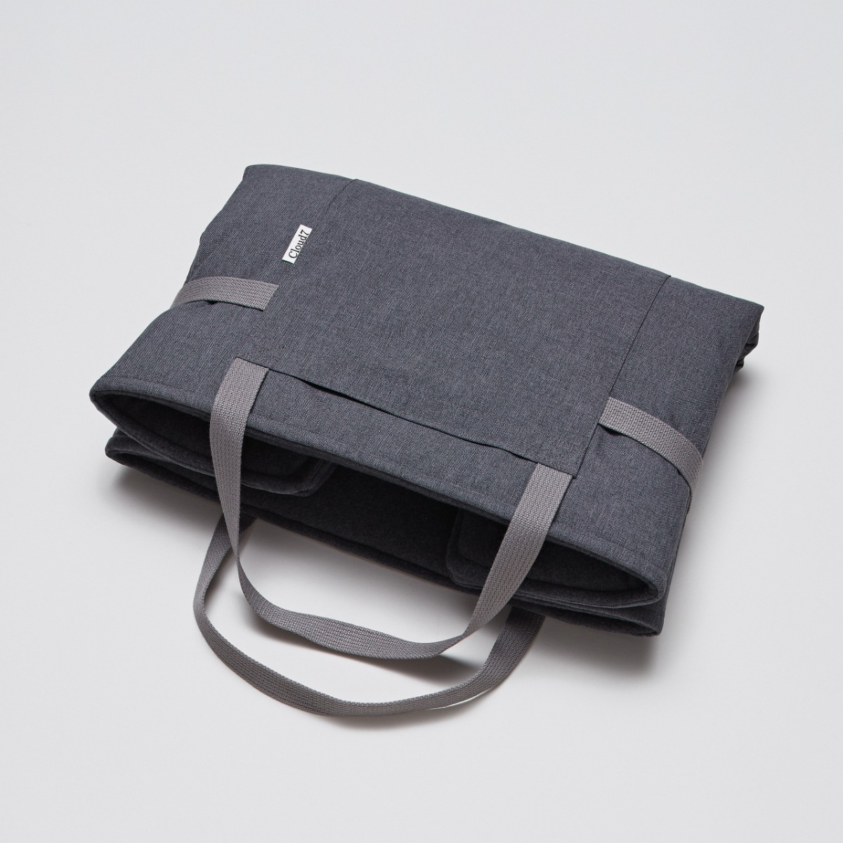 TRAVEL BED WATERPROOF MID GREY - DARK GREY