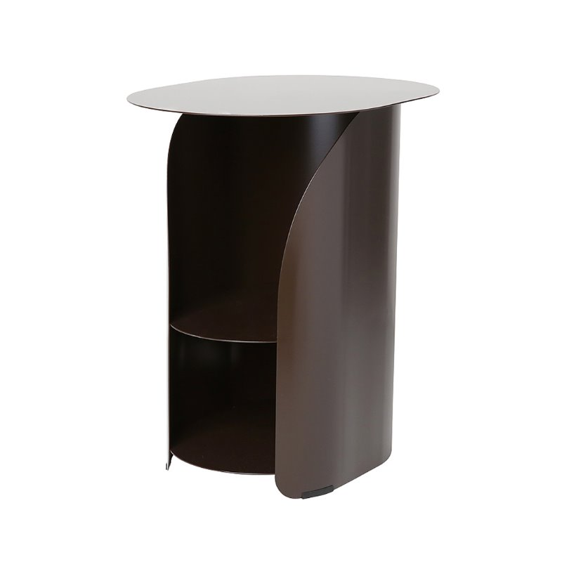 커브사이드테이블 curve side table_chestnut brown
