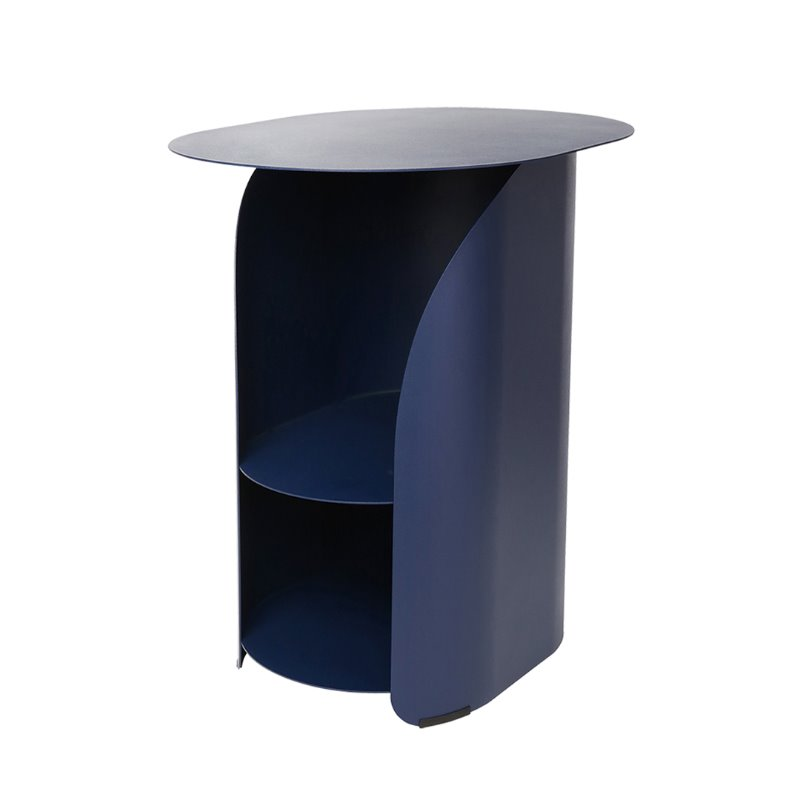 커브사이드테이블 curve side table_deep blue