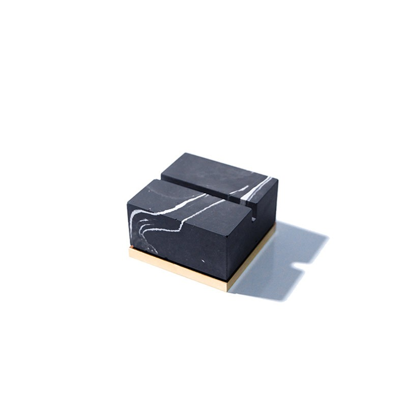 Monster pill (namecard holder) _ Square type / Black marble