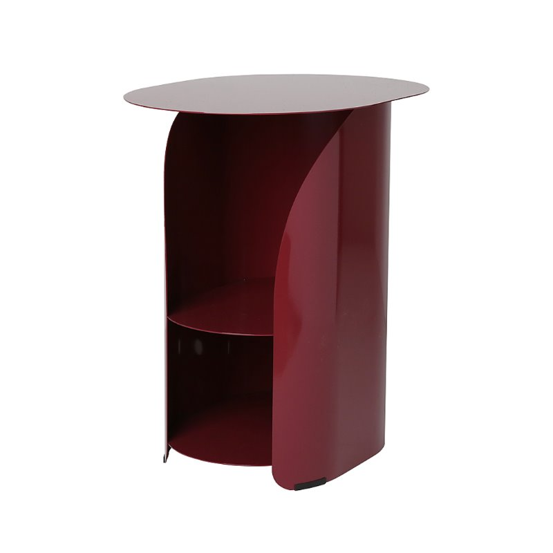 커브사이드테이블 curve side table_burgundy
