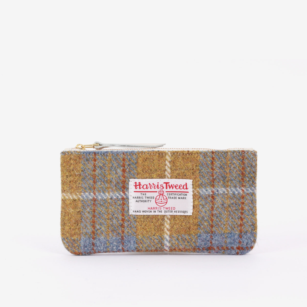 BILL POUCH X HARRIS TWEED OLIVE