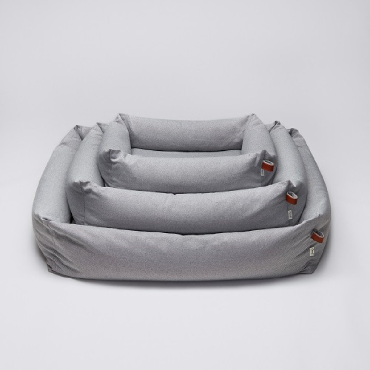 DOG BED SLEEPY DELUXE TWEED GREY