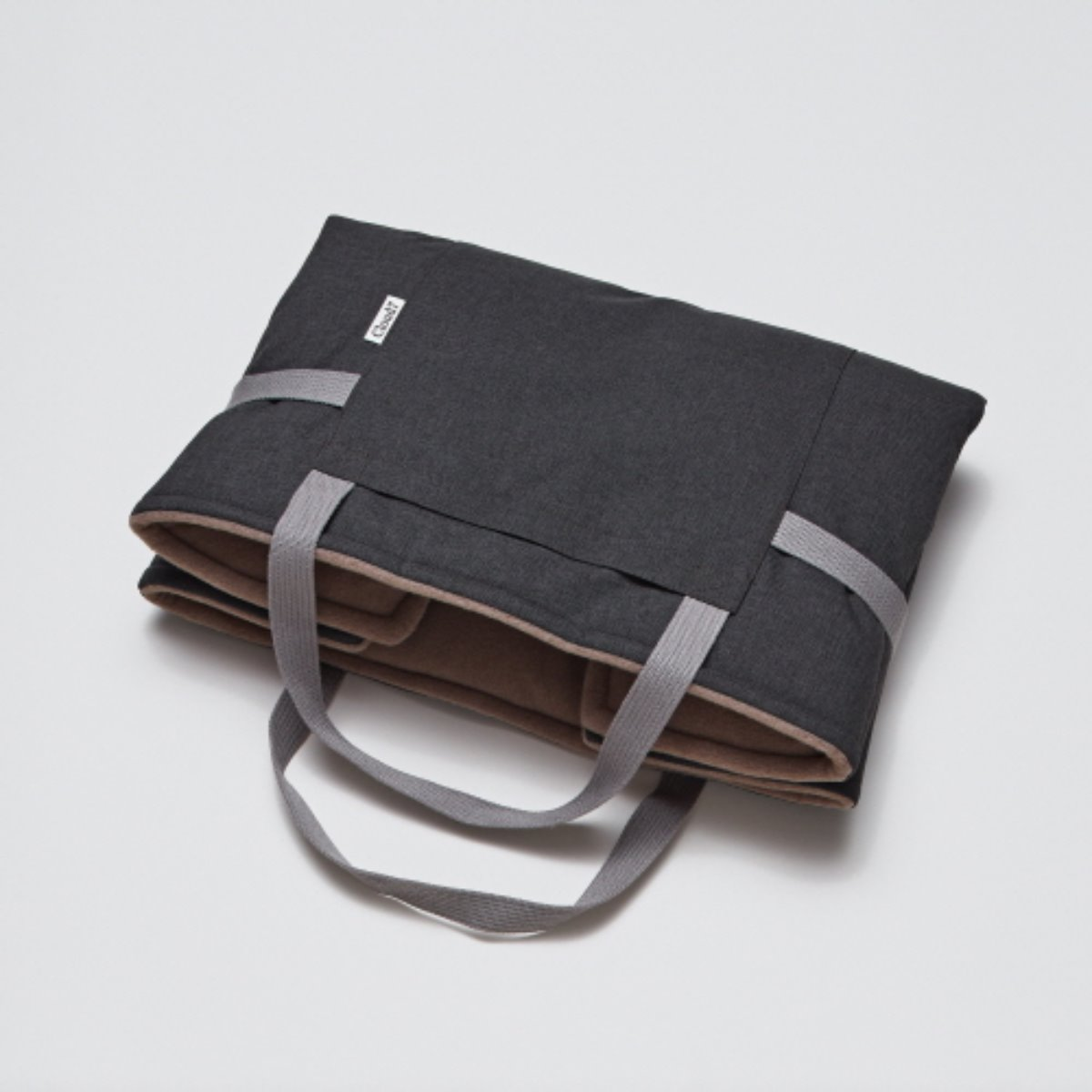 TRAVEL BED WATERPROOF GRAPHITE - SAND