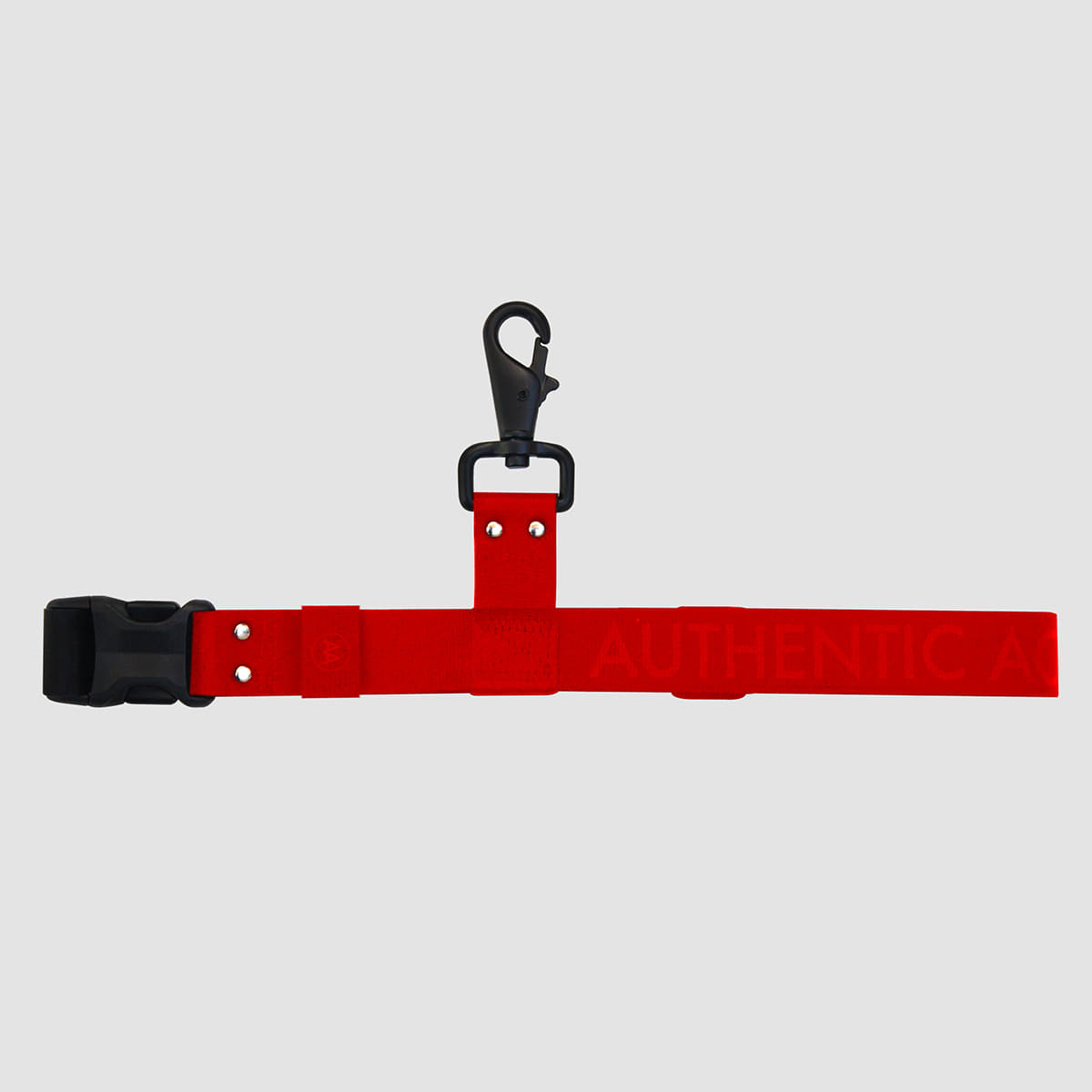 AA19 S/S MILI-TECH SUPER LOCK-BELT RED