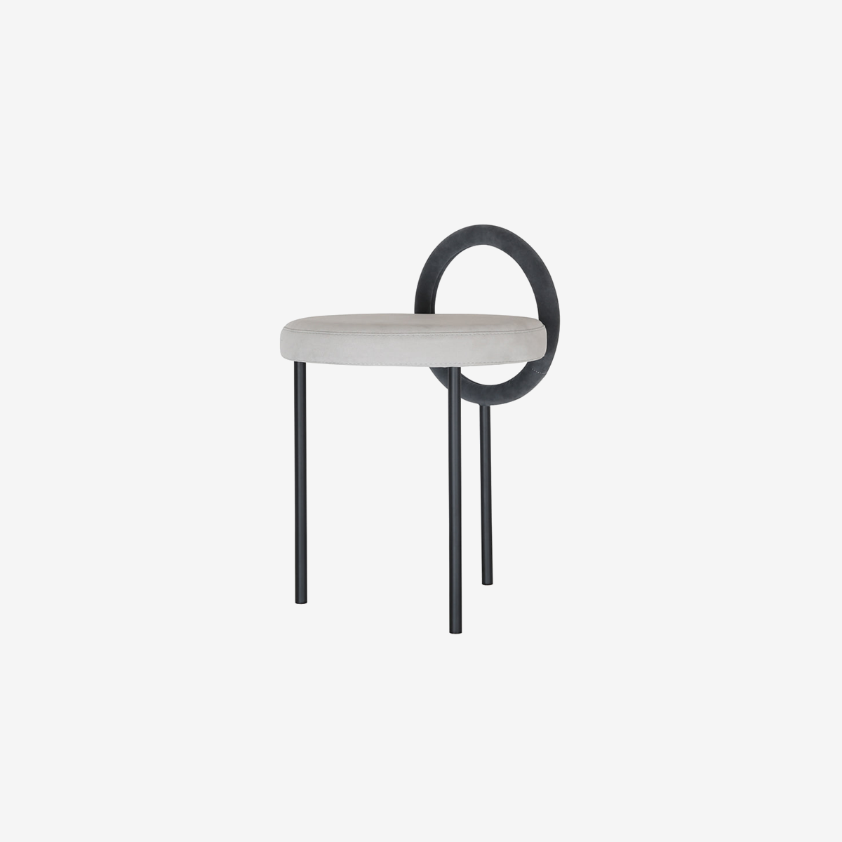 Hoop Stool _gray