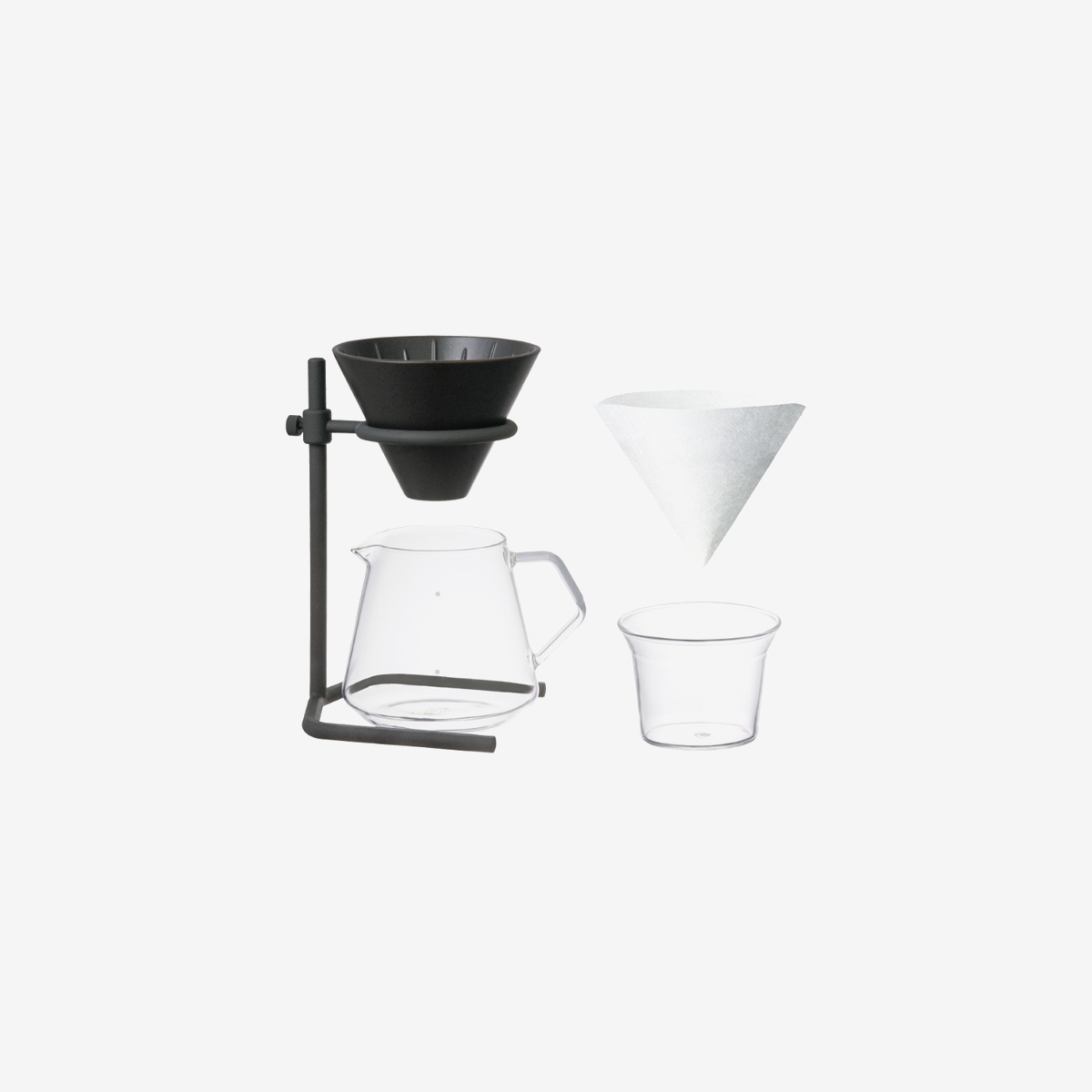 Coffee Brewer Stand set 4cups