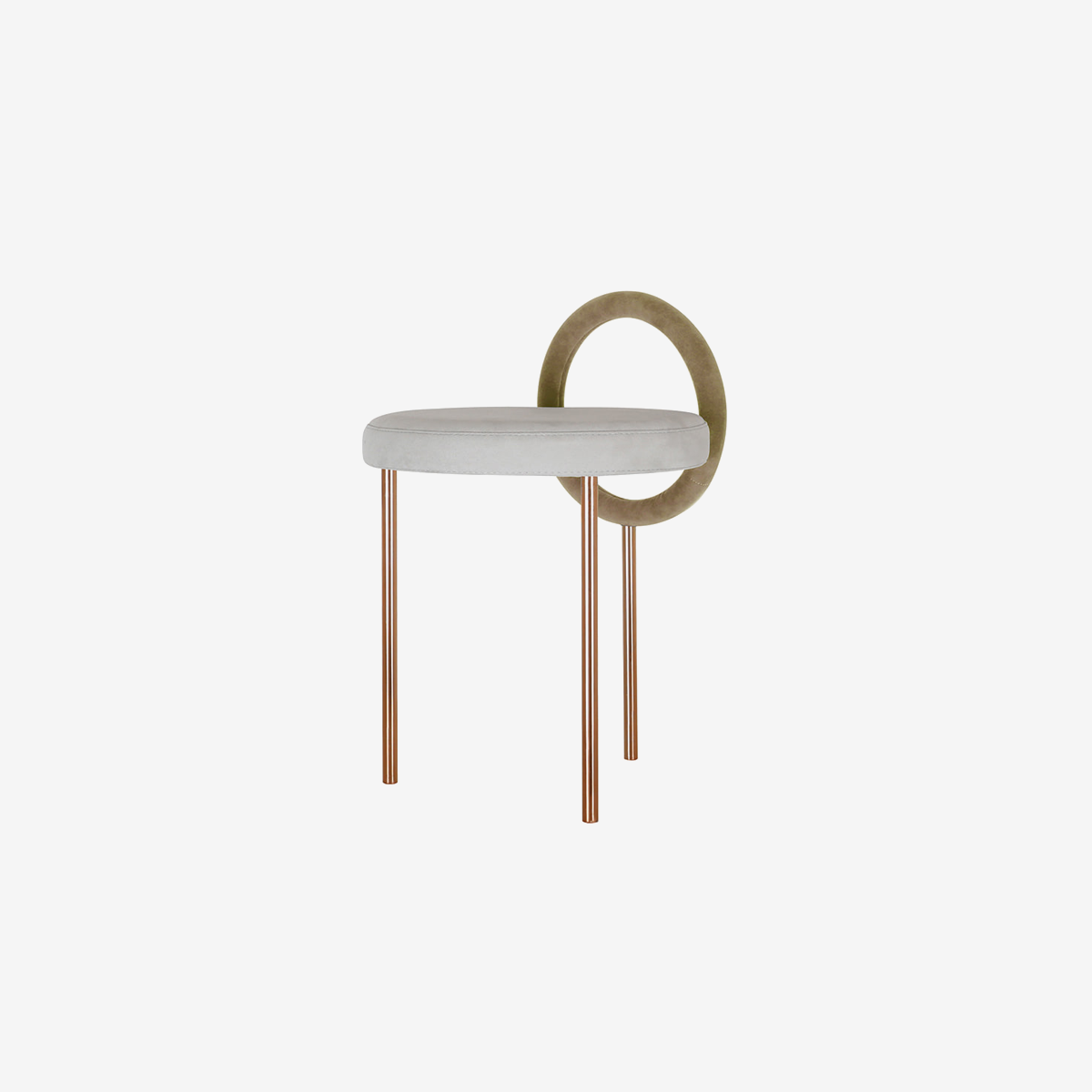 Hoop Stool _brown gold