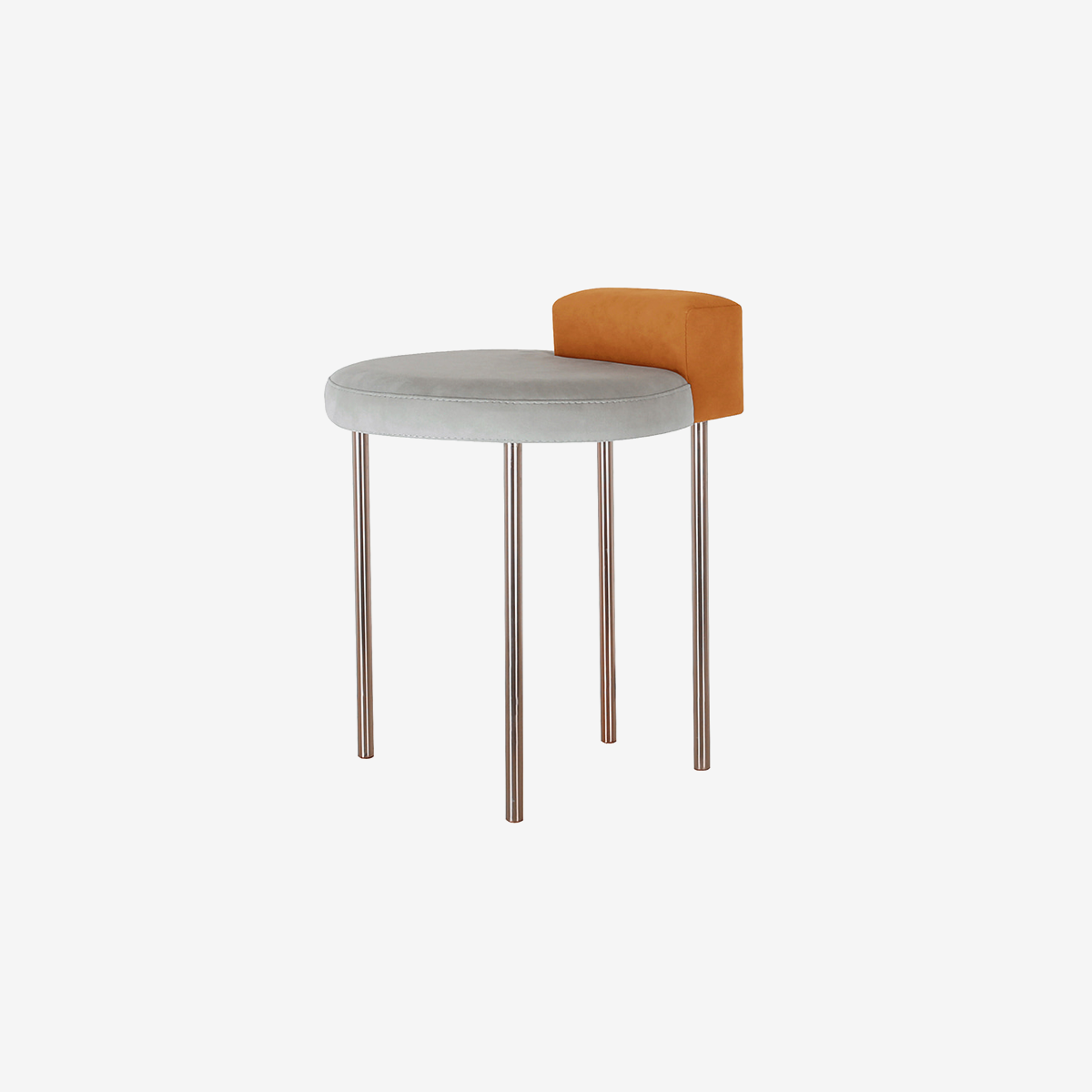 Box Stool _orange