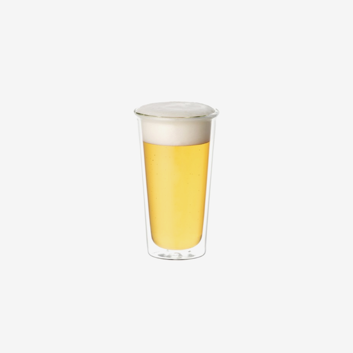 Cast Double Wall Beer Glass