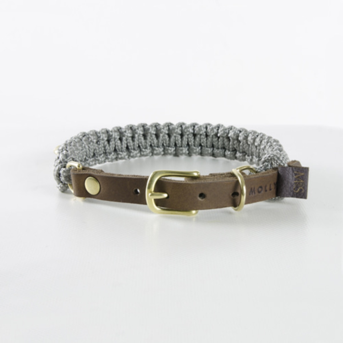 TOUCH OF LEATHER Collar GREY