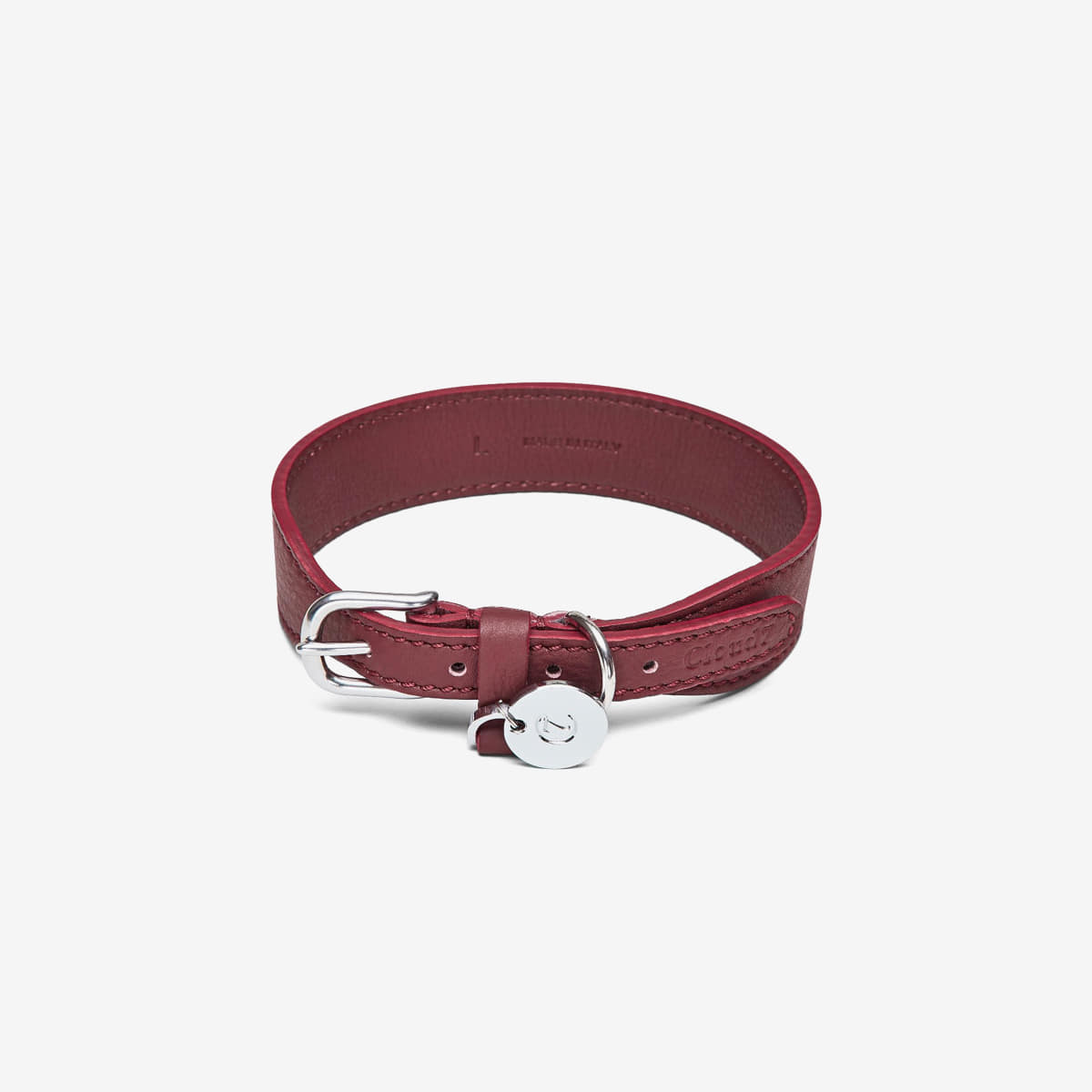 DOG COLLAR VONDELPARK BURGUNDY