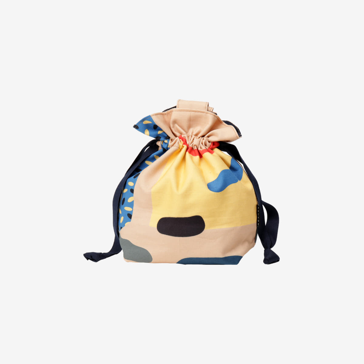 Cut outs mini string bag - beige