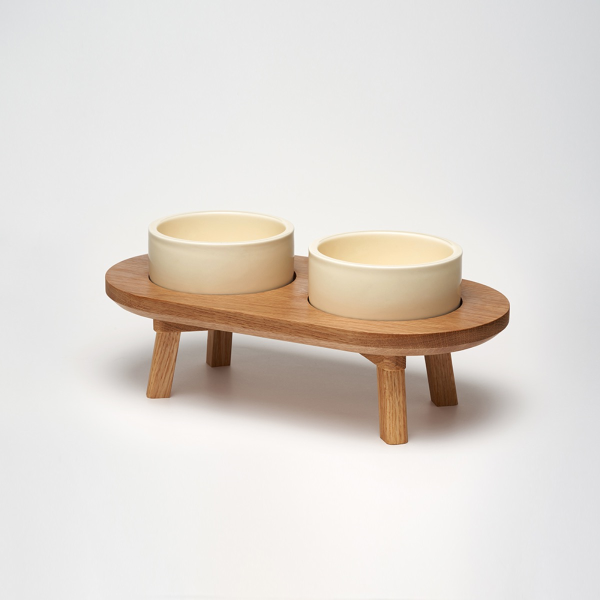 스몰스터프 DINING SET WOOD WHITE OAK